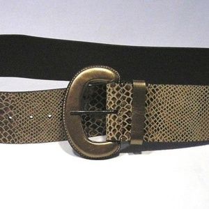 Brand New Chico's Wide Leather Leopard Belt M